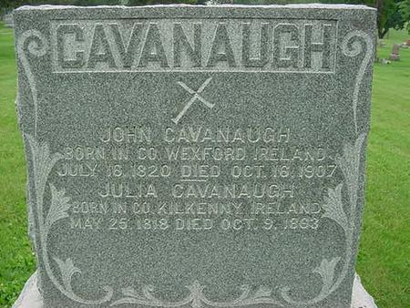 CAVANAUGH, JOHN - Scott County, Iowa | JOHN CAVANAUGH