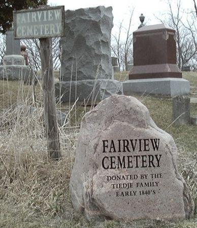 FAIRVIEW A.K.A. TIEDJE, CEMETERY - Scott County, Iowa   CEMETERY FAIRVIEW A.K.A. TIEDJE