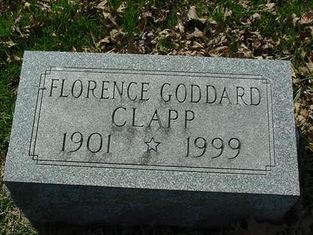 GODDARD CLAPP, FLORENCE - Scott County, Iowa | FLORENCE GODDARD CLAPP