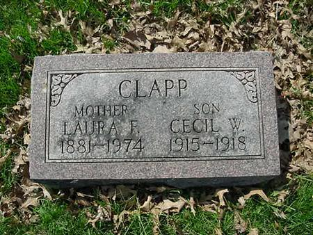 STOUT CLAPP, LAURA E - Scott County, Iowa | LAURA E STOUT CLAPP