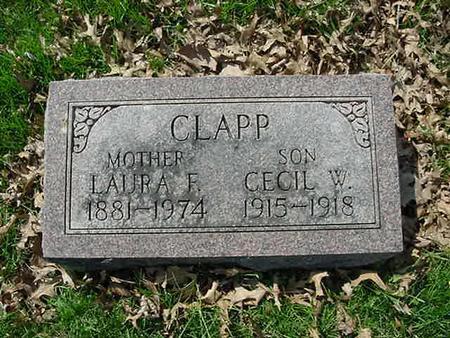 CLAPP, CECIL W - Scott County, Iowa | CECIL W CLAPP