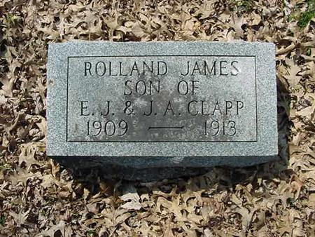 CLAPP, ROLLAND JAMES - Scott County, Iowa | ROLLAND JAMES CLAPP