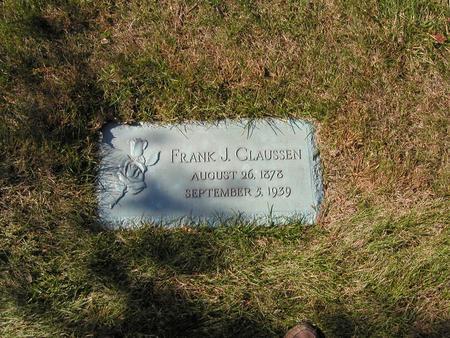CLAUSSEN, FRANK JOSEPH - Scott County, Iowa | FRANK JOSEPH CLAUSSEN