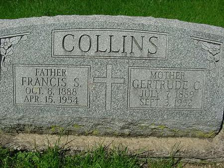 COLLINS, GERTRUDE C - Scott County, Iowa | GERTRUDE C COLLINS