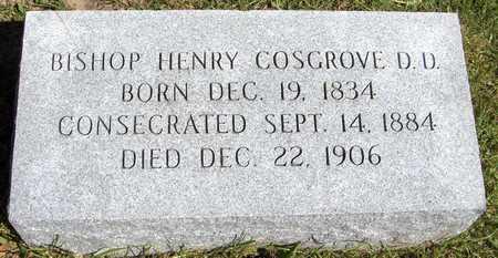 COSGROVE, BISHOP HENRY - Scott County, Iowa   BISHOP HENRY COSGROVE