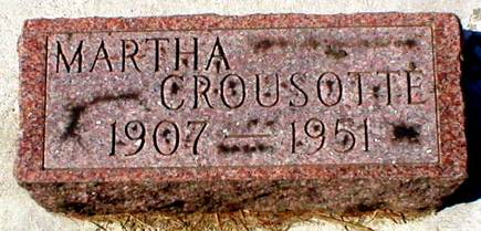 CROUSOTTE, MARTHA - Scott County, Iowa | MARTHA CROUSOTTE