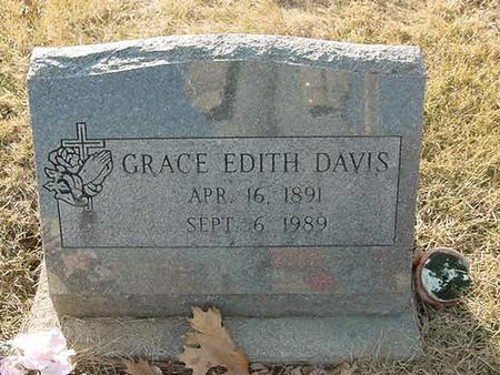 DAVIS, GRACE EDITH - Scott County, Iowa | GRACE EDITH DAVIS