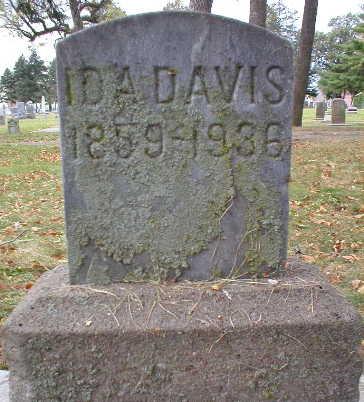 DAVIS, IDA - Scott County, Iowa   IDA DAVIS