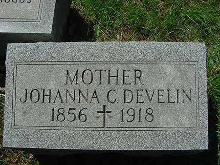 DEVELIN, JOHANNA C - Scott County, Iowa   JOHANNA C DEVELIN