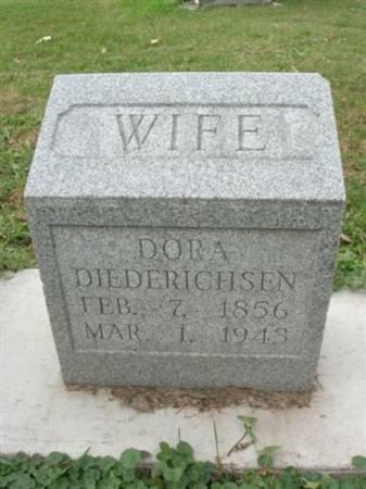 DIEDERICHSEN, DORA - Scott County, Iowa | DORA DIEDERICHSEN