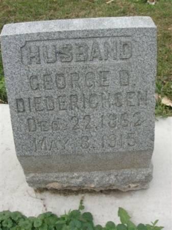 DIEDERICHSEN, GEORGE D. - Scott County, Iowa | GEORGE D. DIEDERICHSEN