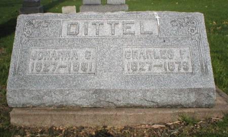 DITTEL, CHARLES F - Scott County, Iowa   CHARLES F DITTEL