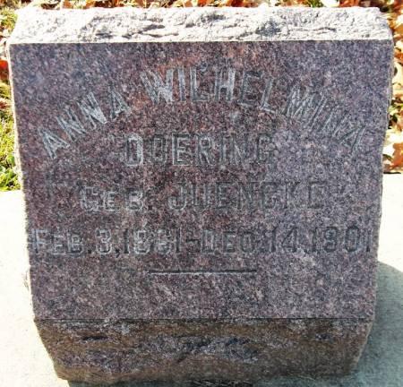 DOERING, ANNA WILHELMINA - Scott County, Iowa | ANNA WILHELMINA DOERING