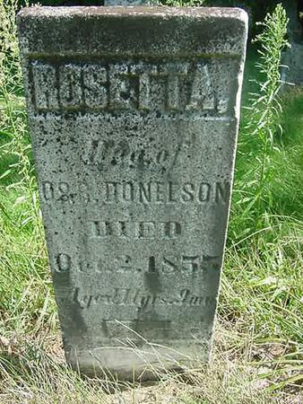 DONELSON, ROSETTA - Scott County, Iowa | ROSETTA DONELSON