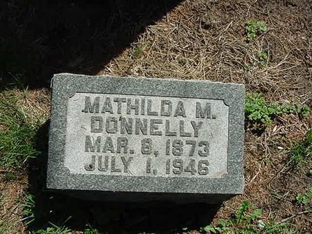 DONNELLY, MATHILDA M - Scott County, Iowa | MATHILDA M DONNELLY