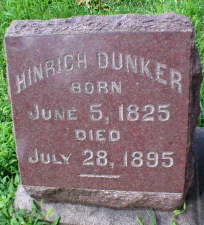 DUNKER, HINRICH - Scott County, Iowa | HINRICH DUNKER
