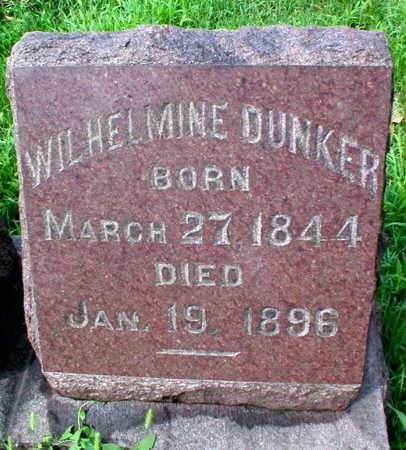 DUNKER, WILHELMINE - Scott County, Iowa | WILHELMINE DUNKER