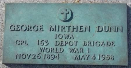 DUNN, GEORGE MIRTHEN - Scott County, Iowa | GEORGE MIRTHEN DUNN