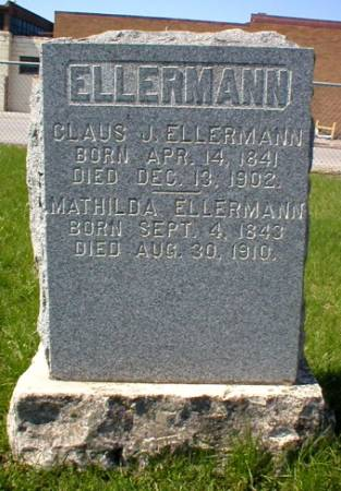 ELLERMANN, MATHILDA - Scott County, Iowa | MATHILDA ELLERMANN