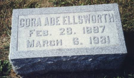 ELLSWORTH, CORA - Scott County, Iowa | CORA ELLSWORTH