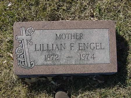ENGEL, LILLIAN F - Scott County, Iowa | LILLIAN F ENGEL