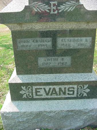EVANS, JOHN GRAHAM - Scott County, Iowa | JOHN GRAHAM EVANS