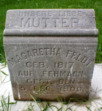 FELDT, MARGARETHA - Scott County, Iowa | MARGARETHA FELDT