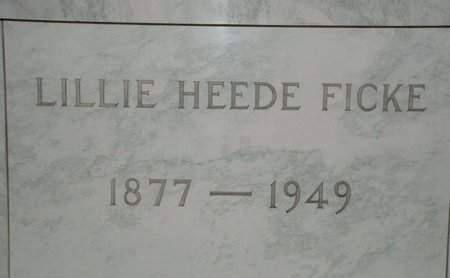 HEEDE FICKE, LILLIAN - Scott County, Iowa | LILLIAN HEEDE FICKE