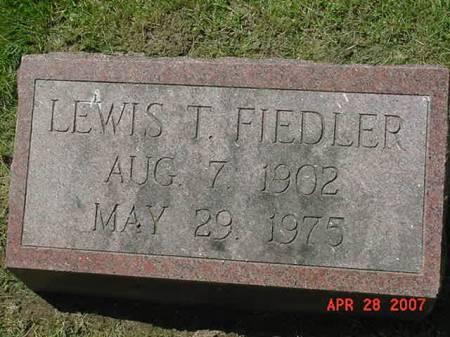FIEDLER, LEWIS T - Scott County, Iowa | LEWIS T FIEDLER