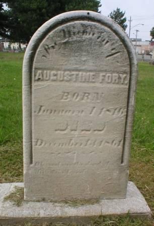 FORY, AUGUSTINE - Scott County, Iowa   AUGUSTINE FORY