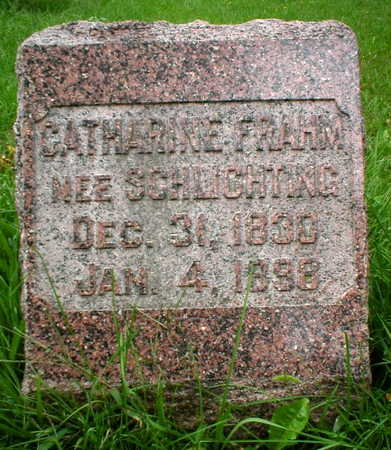 SCHLICHTING FRAHM, CATHARINE - Scott County, Iowa | CATHARINE SCHLICHTING FRAHM