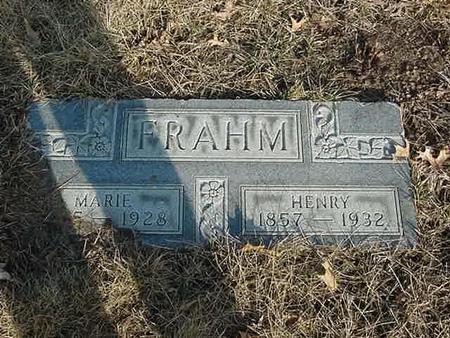 FRAHM, MARIE - Scott County, Iowa | MARIE FRAHM