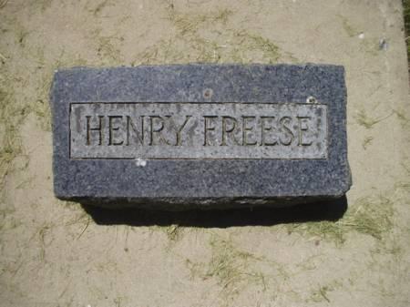 FREESE, HENRY - Scott County, Iowa | HENRY FREESE