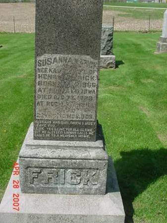 FRICK, SUSANNA - Scott County, Iowa | SUSANNA FRICK