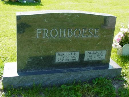 FROHBOESE, NORMA A - Scott County, Iowa | NORMA A FROHBOESE