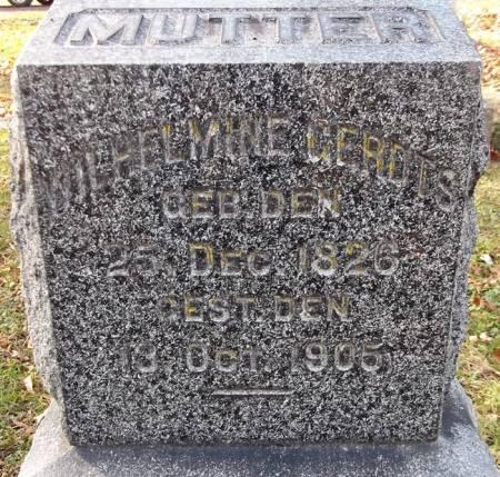 GERDTS, WILHELMINE - Scott County, Iowa   WILHELMINE GERDTS