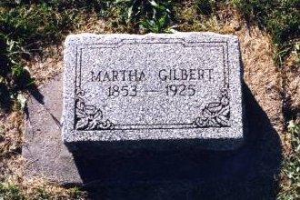 WILKINSON GILBERT, MARTHA - Scott County, Iowa   MARTHA WILKINSON GILBERT