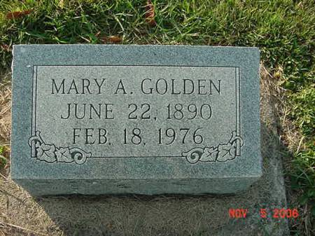 GOLDEN, MARY A - Scott County, Iowa | MARY A GOLDEN