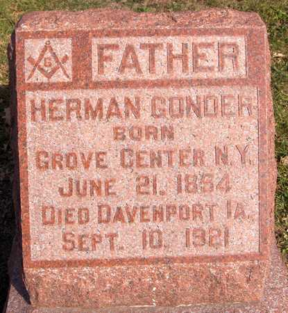 GONDER, HERMAN - Scott County, Iowa | HERMAN GONDER