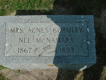 MCNAMARA GORMLEY, AGNES - Scott County, Iowa | AGNES MCNAMARA GORMLEY