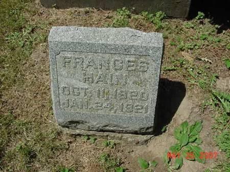 HAIN, FRANCES - Scott County, Iowa | FRANCES HAIN