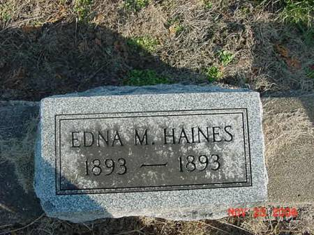 HAINES, EDNA M - Scott County, Iowa   EDNA M HAINES