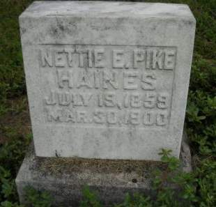 PIKE HAINES, NETTIE  E. - Scott County, Iowa | NETTIE  E. PIKE HAINES