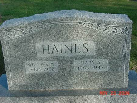 HAINES, MARY A - Scott County, Iowa | MARY A HAINES