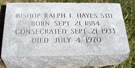 HAYES, BISHOP RALPH L. - Scott County, Iowa | BISHOP RALPH L. HAYES