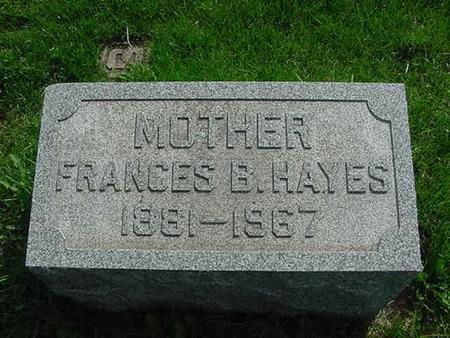 SMYTHE HAYES, FRANCES B - Scott County, Iowa | FRANCES B SMYTHE HAYES