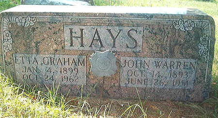 HAYS, JOHN WARREN, SR. - Scott County, Iowa | JOHN WARREN, SR. HAYS