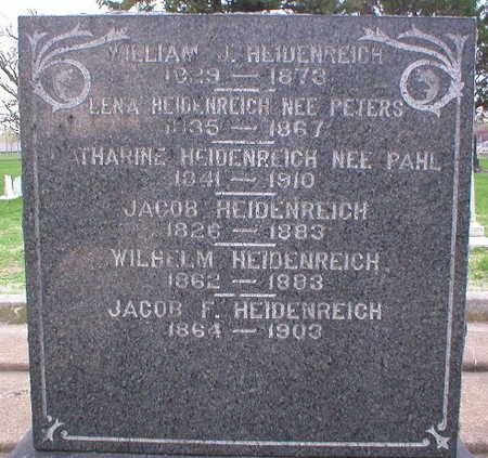 PAHL HEIDENREICH, CATHARINE - Scott County, Iowa | CATHARINE PAHL HEIDENREICH