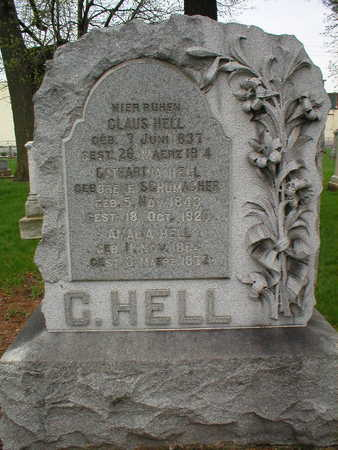 HELL, CLAUS - Scott County, Iowa | CLAUS HELL
