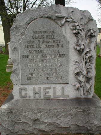 SCHUMACHER HELL, CATHARINA - Scott County, Iowa | CATHARINA SCHUMACHER HELL